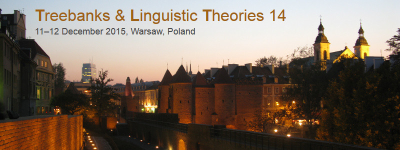 14th International Workshop on Treebanks and Linguistic Theories