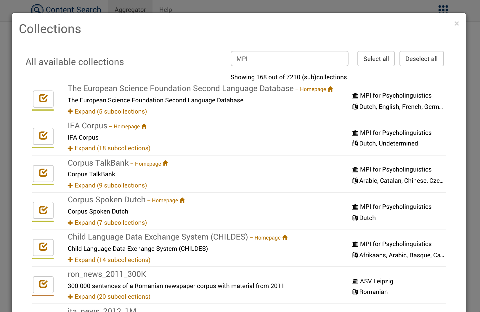 Collections Search