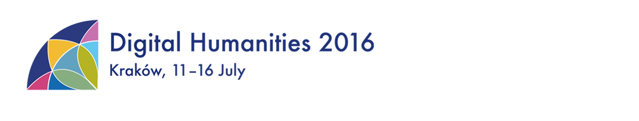 Digital Humanities 2016 conference logo