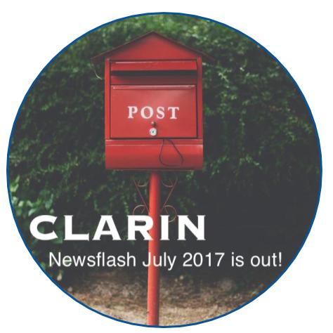 CLARIN Newsflash July 2017