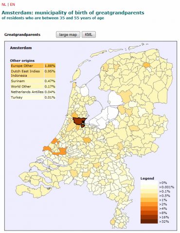 Detailed interactive mapping of migration in The Netherlands in the ...